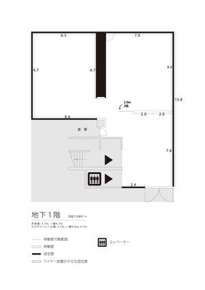 地下1階展示室平面図