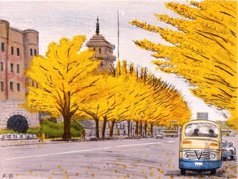 秋の日本大通