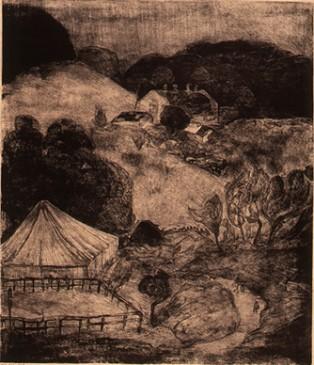 夕暮れの牧場(こどもの国)