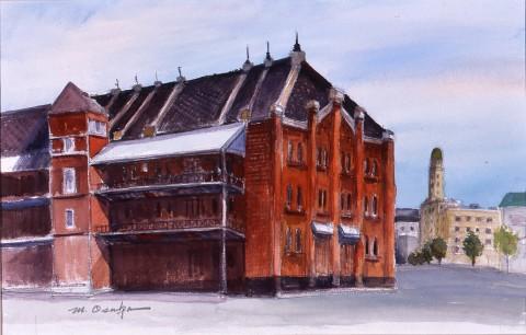 港の赤煉瓦倉庫