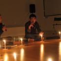対談「幽霊のはなし」(9月29日)左から、岩井優氏、久保明教氏