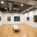 「横浜市民ギャラリーコレクション展2020 うつし、描かれた港と水辺」2.描かれた横浜港 1940~80年代 展示風景 photo:Ken KATO