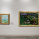 「横浜市民ギャラリーコレクション展2020 うつし、描かれた港と水辺」3.水辺と人びと 展示風景 photo:Ken KATO
