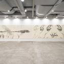 「新・今日の作家展2020 再生の空間」 山口啓介「地球・爆」第8番より《白虎 リヴァイアサン》《進化論・退化説》《死海 ファルージャ》2019年 展示風景 photo:Ken KATO