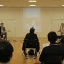 「新・今日の作家展2020 再生の空間」対談「二つの、3月11日/震災後とコロナ後の世界」(10月3日)左から、山口啓介氏、徐京植氏